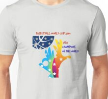 FIBA Official logo decorated with American symbols and text Unisex T-Shirt