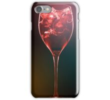 Amazing red cocktail with ice cubes iPhone Case/Skin