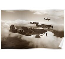 Southern Cross Mustangs - Sepia Poster