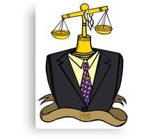Justice Wears A Suit Canvas Print