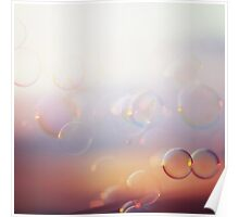 Tranquil background with bubbles Poster