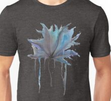 Blue and Purple Watercolor Leaf Unisex T-Shirt
