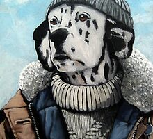 SeaDog - anthropomorphic dog portrait by LindaAppleArt
