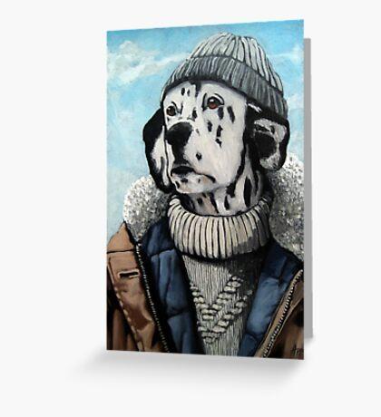 SeaDog - anthropomorphic dog portrait Greeting Card