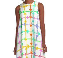 Colorful arrows A-Line Dress