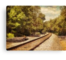 On the right track Canvas Print