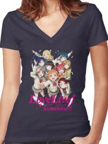 Love Live Sunshine Women's Fitted V-Neck T-Shirt