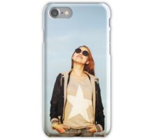 Fashion portrait of young sensual woman iPhone Case/Skin