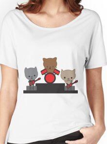 Kitty Cat Kawaii Band Women's Relaxed Fit T-Shirt