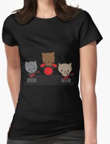 Kitty Cat Kawaii Band Womens Fitted T-Shirt