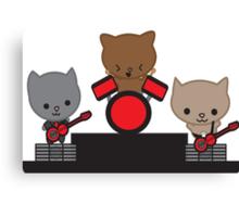 Kitty Cat Kawaii Band Canvas Print