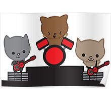 Kitty Cat Kawaii Band Poster