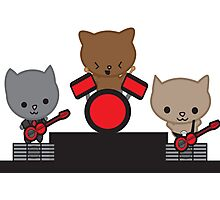 Kitty Cat Kawaii Band Photographic Print