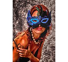 BLUE MASK   ... Photographic Print