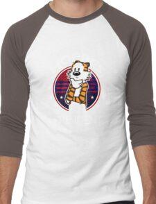 Calvin And Hobbes Camera Pose Men's Baseball ¾ T-Shirt