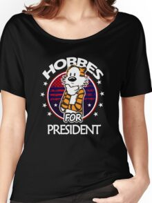 Calvin And Hobbes Camera Pose Women's Relaxed Fit T-Shirt