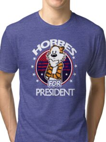 Calvin And Hobbes Camera Pose Tri-blend T-Shirt