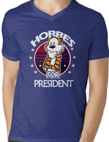 Calvin And Hobbes Camera Pose Mens V-Neck T-Shirt