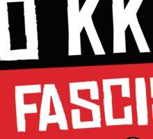NO TRUMP NO KKK NO FASCIST USA! Sticker