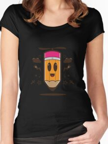 Fly Pencil Vector Women's Fitted Scoop T-Shirt