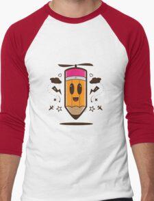 Fly Pencil Vector Men's Baseball ¾ T-Shirt