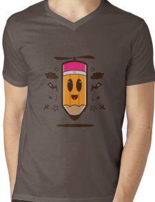 Fly Pencil Vector Mens V-Neck T-Shirt