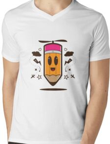 Fly Pencil Vector Mens V-Neck T-Shirt