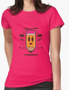 Fly Pencil Vector Womens Fitted T-Shirt