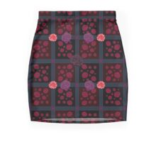 Dark floral check pattern Mini Skirt