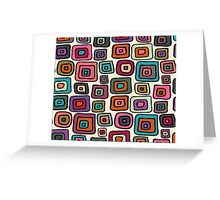 Modern Retro Squared Greeting Card