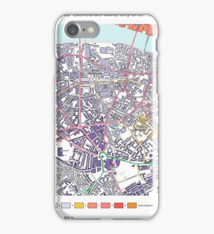 Multiple Deprivation Cathedrals ward, City of London iPhone Case/Skin