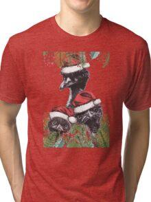 Christmas Emus Tri-blend T-Shirt
