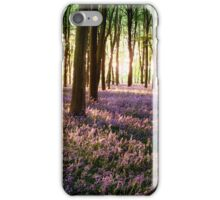 Long shadows in bluebell woods at sunrise iPhone Case/Skin