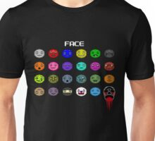 The Many Faces of Face Unisex T-Shirt