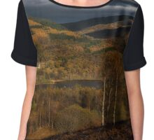 Fall scenery at The Trossachs National Park Chiffon Top