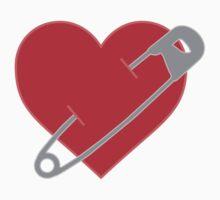 Pinned Heart One Piece - Short Sleeve