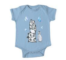 Kaz Art Creation Kids Pandas & Penguin  One Piece - Short Sleeve