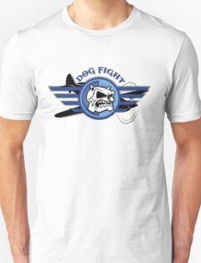 Dog Fight Plane Screen Print Unisex T-Shirt