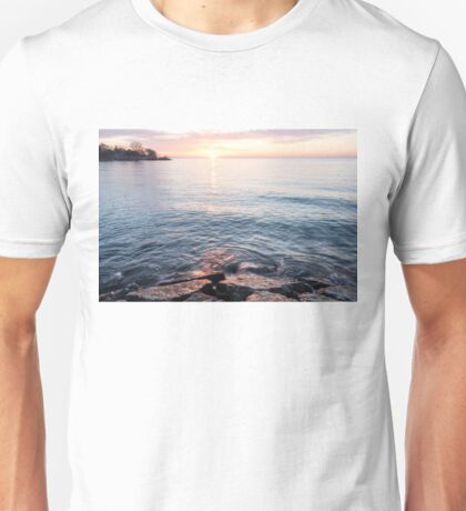 Rough and Soft - Silky Water and Hard Rocks at Sunrise Unisex T-Shirt