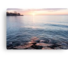 Rough and Soft - Silky Water and Hard Rocks at Sunrise Canvas Print