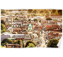 Winchester historic city from above Poster