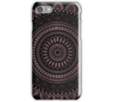 Modern tribal rose gold mandala design iPhone Case/Skin