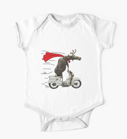moped moose One Piece - Short Sleeve