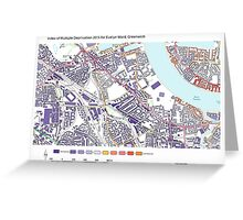 Multiple Deprivation Evelyn ward, Greenwich Greeting Card