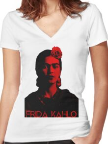 Frida Kahlo (Ver 8,2) Women's Fitted V-Neck T-Shirt