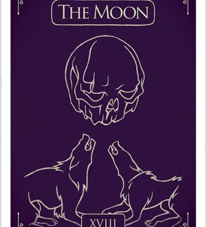the moon  Sticker