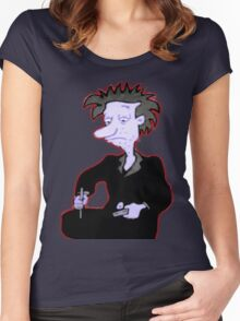 Stu Pickles (Making Chocolate Pudding) Women's Fitted Scoop T-Shirt