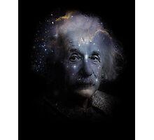 Albert Einstein Genius Space Cosmos Galaxy Universe Photographic Print