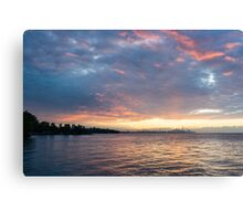 Minutes Before Sunrise - Toronto Skyline Under Spectacular Clouds Canvas Print