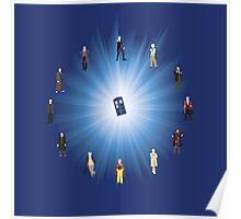 Doctor Who (All) Clock Poster